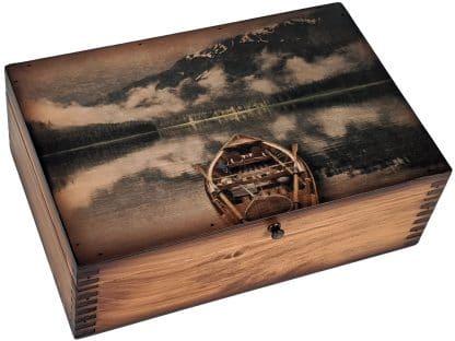 Wooden Canoe Memory Box