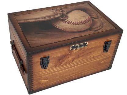 Baseball Player Coach Memories Keepsake Box