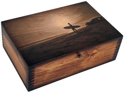 Surfer Shadow Memory Box