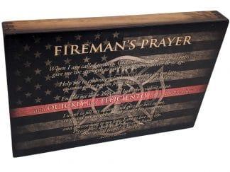 Firefighter Prayer Wall Art