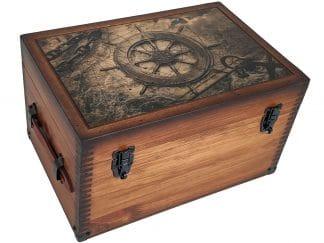 Nautical Wooden Keepsake Box