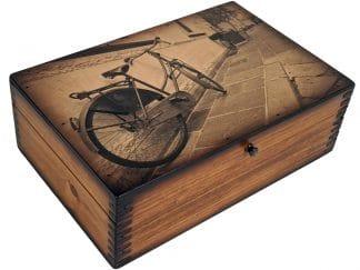 Vintage Sepia Bicycle Decor