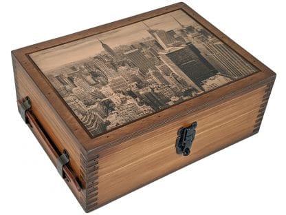 Manhattan New York Humidor Cigar Box