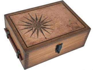 Vintage Map Desktop Humidor Cigar Box